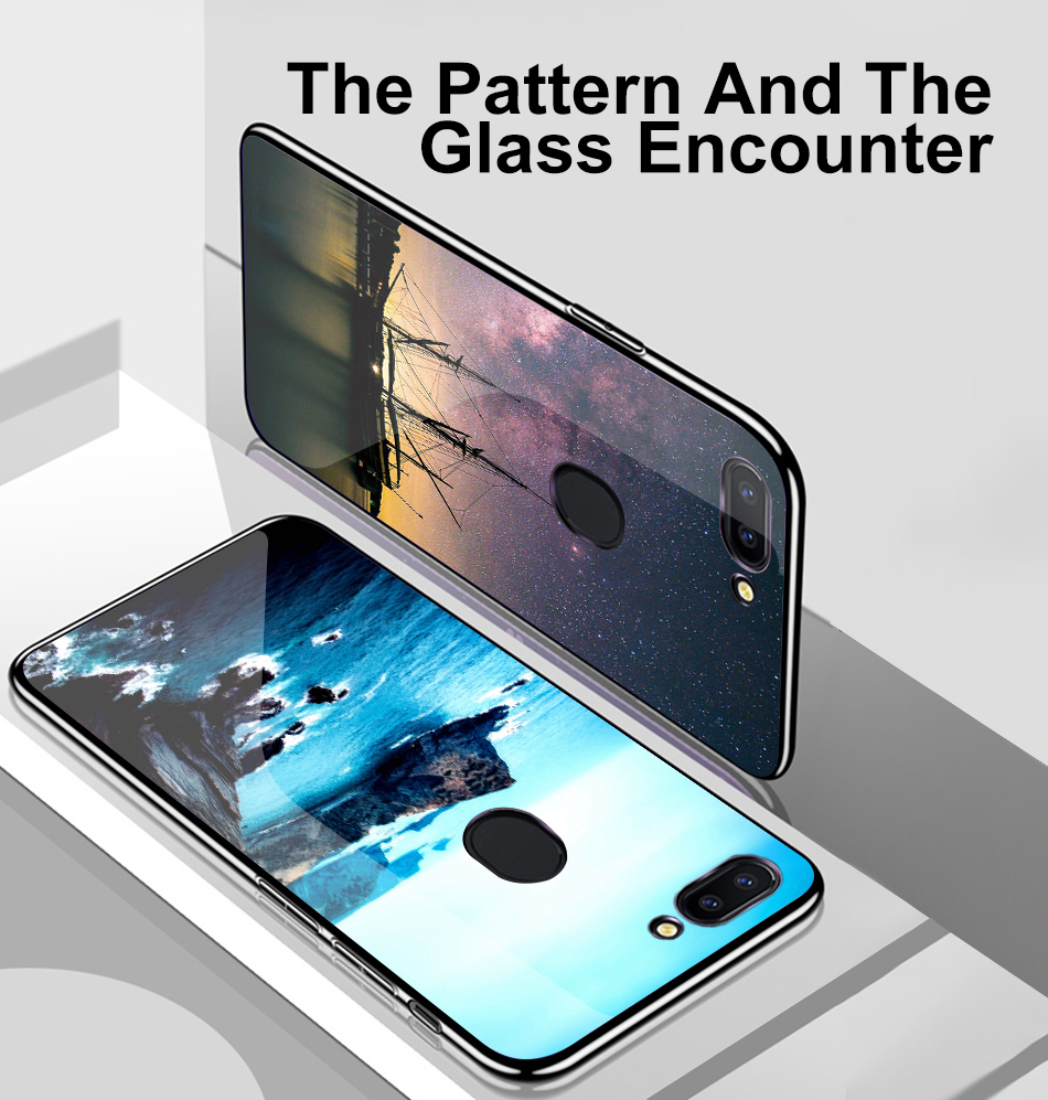 TOMKAS Star Sky Pattern Glass Case For iPhone X 7 8 6 6 s Cover Phone Cases For iPhone 7 8 6 6s Plus X Case Silione TPU PC Coque (4)