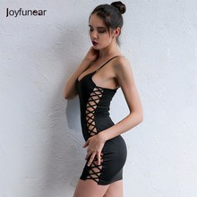 Joyfunear 2017 Brand Summer Strapless Bandage Bodycon Dress Women Sexy Vestidos Club Wear New Fashion Party Dresses Vestidos(China)