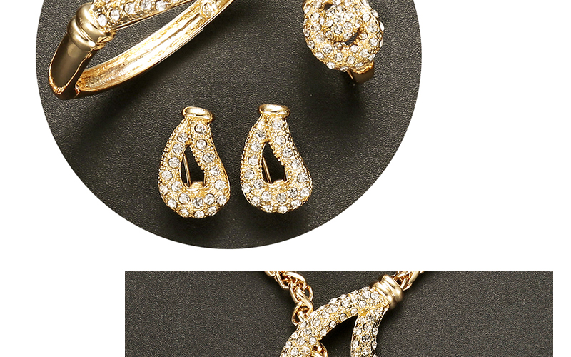 AYAYOO African Beads Jewelry Set Nigerian Wedding Gold Color Long Necklace Jewellery Sets For Women Luxury Dubai Jewelry Sets (4)