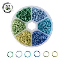 6x0.8mm Mixed 6 Colors Aluminum Wire Open Jump Rings Jewelry Findings for Jewelry Making DIY about 180pcs/color, 1080pcs/box(China)