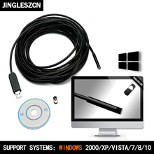 USB Endoscope 7mm Dia 2/5/7/10/15/20/25m Length Insepction Borescope Waterproof Tube Visual Camera Lens Snake Video embedded