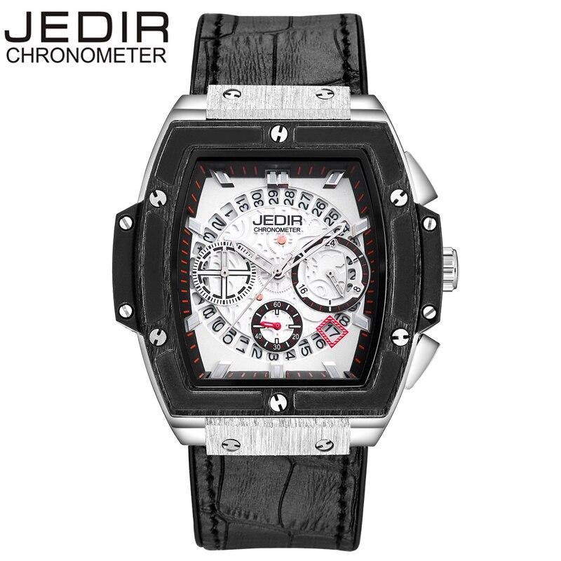 JEDIR Men Watches Pirate Hollow Leather Clock Male Casual Sport Watch Men Luminous Wrist Quartz Watch relogios masculino N39<br>