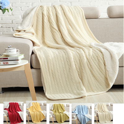 150x200cm Thickened Cashmere knitted blanket,white Color Baby sleepingBlankets,100% Cotton twin size kids nap mat<br><br>Aliexpress