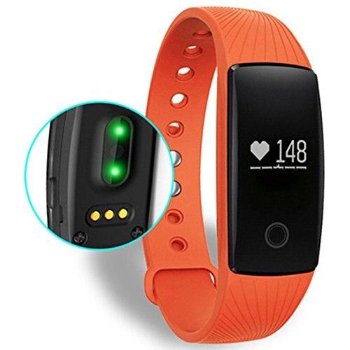 BLE Pedometer Heartbeat Sensor Pulse Meter Smart Heart Rate Monitor Wristband