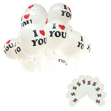 Delicate 12 inch Pearl Latex Balloon I LOVE YOU Balloons Christmas Wedding Decorations Hot Selling(China)