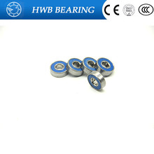 Free shipping 10pcs 608 2RS 8*22*7mm blue rubber Bearings for decration Hand Spinner Tri Spinner Fidget Toy Accessory(China)