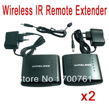 2pcs/lot 200m Wireless 2.4GHz IR Remote Extender for Receiver and Transmitter Re-Transmitter AV TV Audio Vedio Sender