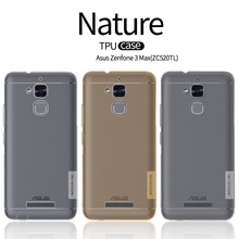 Nillkin phone bag case anti slip protective mobile case for asus zenfone 3 max ZC520TL carry plastic case dust plug back cover