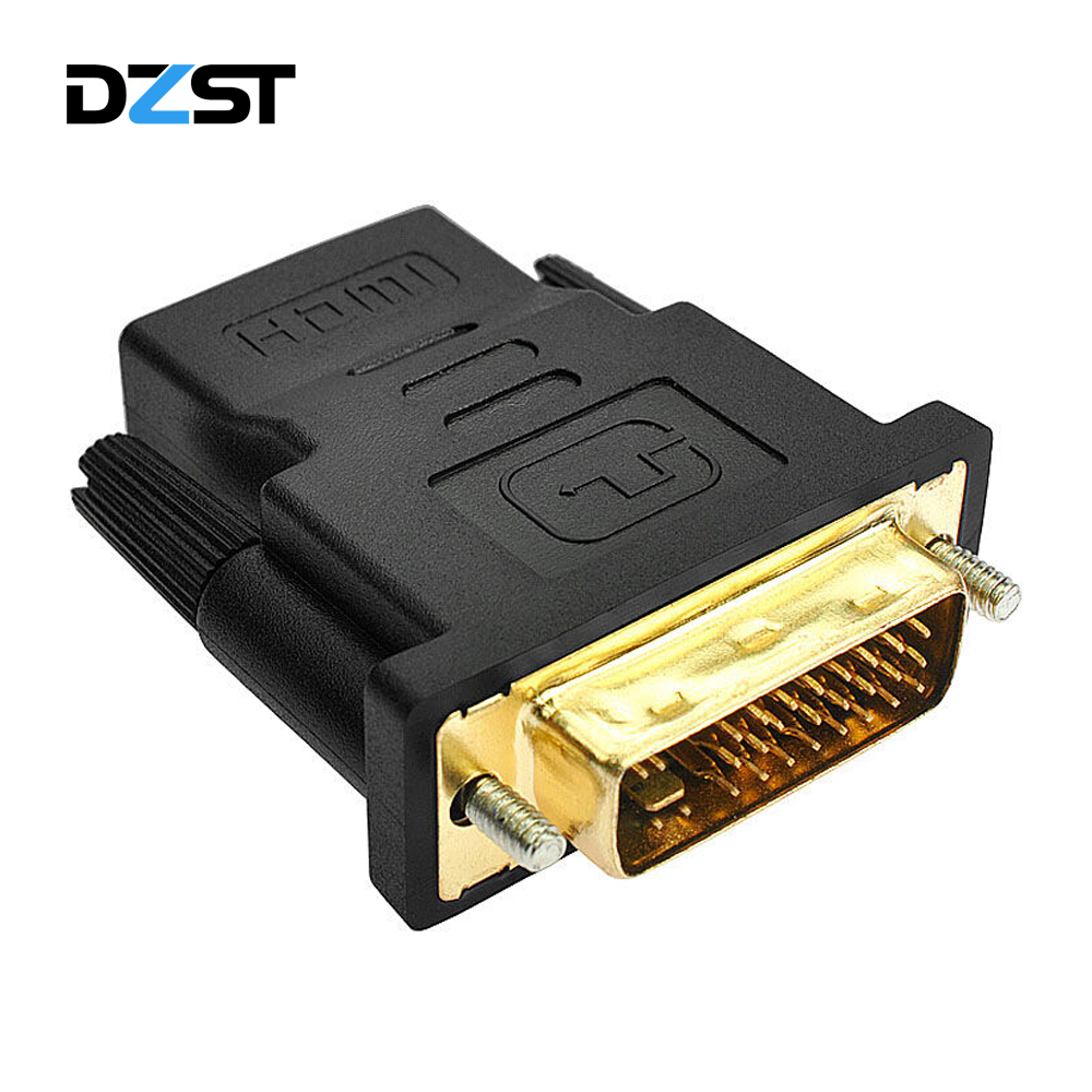 DZLST HDMI to DVI 24+1 Adapter Female to Male 1080P HDTV Converter for PC PS3 Projector TV Box HDTV LCD TV display computer(China)