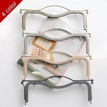 27cm Handbags Accessories Bronze/Gold/Silver/Light gold Metal Purse Frame hand carry / handles for handbags(China)
