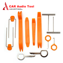 New 12pcs/set Professional Vehicle Dash Trim Tool Car Door Panel Audio Dismantle Remove Install Pry Kit Refit Set Free Shipping