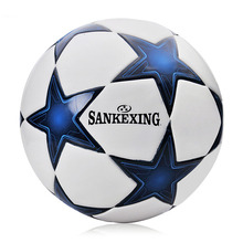 soccer ball size 5 PU leather football competition training professional football Seamless paste for soccer Free ship C07(China)