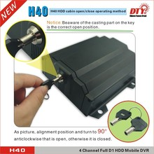 DVR manufacturer anti Vibration 4ch d1 h.264 HDD GPS 4G wifi Vehicle Mobile DVR ,H40-4GW
