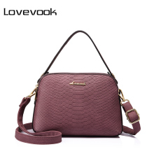 LOVEVOOK brand women shoulder bag high quality female small messenger bag flap ladies crossbody bag with thread(China)