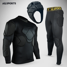 New Design Sports Safety Protection Thicken Gear Soccer Goalkeeper Jerseys Football Goalie Helmet Elbow Knee Padded Protector