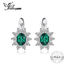 Buy JewelryPalace Classic 2.26ct Oval Created Emerald Clip Earrings 925 Sterling Silver Fashion Princess Diana Wedding Fine Jewelry for $35.99 in AliExpress store