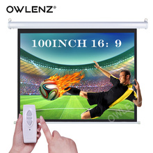 OWLENZ 100-inch 16:9, 4K HD Home Theater Electric Motorized Drop Down Projection Projector Screen for Cinema Business School(China)