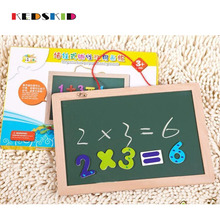 Kid Drawing Writing Board Magnetic Wooden Toy Sketchpad Gift Children Intelligence Education Development Toy(China)