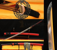 Full Tang Japanese Samurai KATANA Sword Hand Crafted Sharp Blade 9260 Spring Steel Vintage Ox Horn Saya(China)