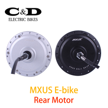 36V 48V 350W High Speed Brushless Gear Hub Motor E-bike Motor Rear Wheel Drive MXUS Brand