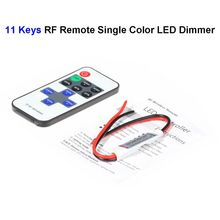5pcs SMD 3528 5050 5730 Single Color LED Rigid Strip 11keys Mini LED Dimmer Controller RF Wireless Remote Control(China)