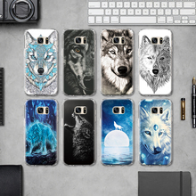 Cool Wolf Dog Pattern TPU Phone Case for Samsung  Galaxy  S4 S5 Mini S6 S7 Edge Plus S8 Note 4 5 G530 Silicone Case