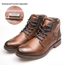 XPER Brand New TEX 방수 Function Upgraded Boots Men 겨울 Work Shoes Rome 오토바이 Ankle Boots Big Size Zip XHY12504T(China)