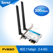 300Mbps Dual band Wifi PCI-E adapter Antennas Wireless Computer Network PCIe Card 802.11a/b/g/n 300M WiFi Wlan For Desktop PC(China)