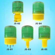 8led Traffic Warning Light Led Solar Signal Beacon Lamps Industrial Road Lights outdoor lighting solar alarm light(Green)