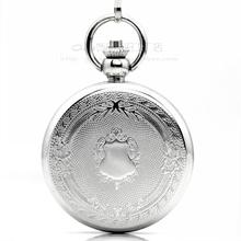 2016 Russia Pocket watchSilver white carved retro pocket watch mechanical watch male Ms. antique gift watch