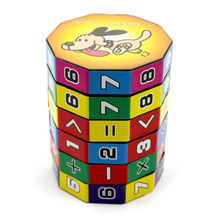 Plastic Kids Child Digital Cube Puzzle Educational Toys Math Arithmetic Toy Math Cube(China)
