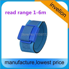 Reusable waterproof rfid wristband / uhf rfid bracelet 860-960Mhz with single chip for timing system long range 1-6m(China)