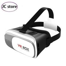 Hot VR BOX II 2.0 VR Virtual Reality 3D Glasses Helmet Google Cardboard Headset Version for 4.0 - 6.0 inch iPhone Android phone