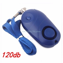 Electronic Plastic Personal Security Anti-theft Alarm Safety Guard Siren Light(China)
