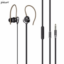 Picun SE-02 Stereo Headset Earphone With Microphone Earhook Mini Earpieces For Apple PC Desktop Lenovo Oukitel Cubot Asus(China)