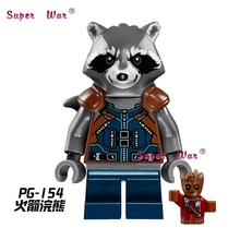 one piece star wars Rocket Raccoon building blocks Guardians Galaxy action sets model bricks Baby toy children - 5A Toys Top Service Provider store
