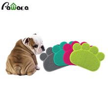 Dog Paw Shape Sleeping Pad Placemat Cat Litter Mat Dog Puppy Cleaning Feeding Dish Bowl Soft Table Mats Wipe Easy Cleaning