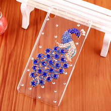"New 9 style Peacock Rhinestone Clear hard plastic mobile Phone cover Smile Case for HTC Desire 626 / 626G dual sim 5.0"" Cases(China)"