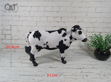 middle new simulation cow toy creative handicraft cow model gift about 31x20cm