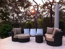 Sigma discount used contemporary outdoor bali pvc rattan furniture(China)