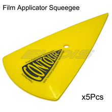 5pcs yellow Pointed end keen-edged Squeegee Scraper Size 15x9cm dust cleaner car ice clean up car film covers lay down tool 5A29