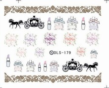 DIY Water Transfer Foils Nail Art Sticker Fashion Nails Vintage Makeup Tools Manicure Decals Minx Cute Nail Decorations