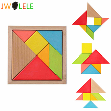JWLELE Jigsaw Puzzle Educational Wooden Toys Developmental Toy Large Wooden Tangram Brain Teaser Puzzles For Children