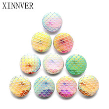 10pcs/lot Random Delivery 18mm Fish Scales Resin Snap Buttons For Leather Bracelets Watches Women One Direction
