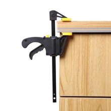 4 Inch Quick Ratchet Release Speed Squeeze Wood Working Work Bar Clamp Clip Kit Spreader Gadget Tool DIY Hand