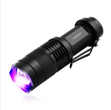 High Quality LED UV Violet Light Flashlight 2000LM Lanterna SK68 Purple UV Torch 395nm Lamp for Detection Fluorescent Brightener(China)