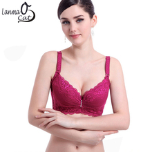 Soft Bra With Wide Sides Push Up Nice Brassiere 3/4 Cup For Women Big Bust C D Cup Wide Side Bras Free Shipping(China)