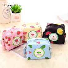 1 PCS Candy Color Drug storage package Fruit Pattern Coin Change Purse iPhone USB Cable Earphone Charger Bag(China)