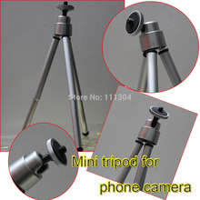 1PCS Mini Tripod Aluminum Metal Lightweight Tripod Stand Mount For Digital Camera Webcam Phone DV Tripod