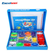 Free Shipping New Creative Electronic Blocks kit Kids Toys Snap circuits Electronics Discovery Kit Science Educational Child Toy(China)